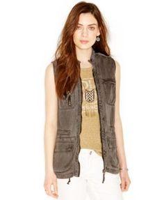 Lucky Brand Zip-Front Cargo Vest | macys.com
