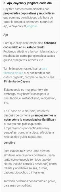 Sinusitis AJO, CAYENA, JENGIBRE Paranasal Sinuses, Garlic, Health