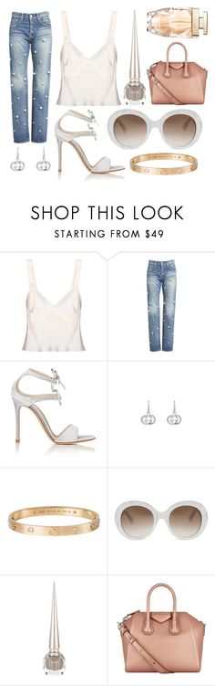 """Untitled #75"" by the-mood-board ❤ liked on Polyvore featuring Calvin Klein Collection, Tu Es Mon Trésor, Gianvito Rossi, Gucci, Cartier, Christian Louboutin and Givenchy"