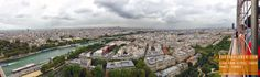 Panorama view of Paris from the Eiffel Tower