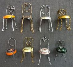 Sillas con chapas de cava / Champagne chairs « La Factoría Plástica