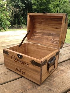 Rustic Wedding Decor - Bridal Party Gift - Ring Bearer Gift - Groomsman Gift - Rustic Card Chest
