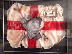 RBA 2014 entry year 10, selected for exhibition. Pencil & burnt flag