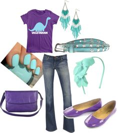 Purple and Teal Vegetarian, created by dotfrye on Polyvore