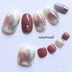 New*ハンド&フットset*セレニティカラーのぬりかけネイル Asian Nails, Korean Nails, Trendy Nail Art, Stylish Nails, Feet Nails, My Nails, Statement Nail, Japanese Nail Art, Nails 2018