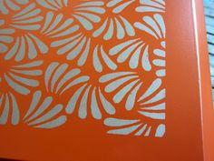 Sydney Barton - Mobiliário Pintado: Laranja Estilo asiático Buffet