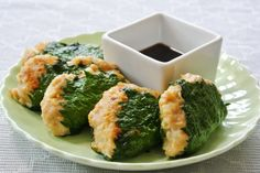 鶏つくねの大葉巻きのレシピです。