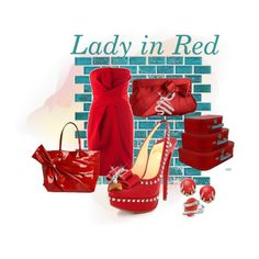 Designer Clothes, Shoes & Bags for Women Lady In Red, Shoe Bag, Polyvore, Shopping, Collection, Design, Women, Fashion, Moda