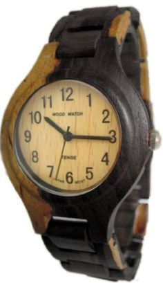 Tense Watch Two Tone Maple & Dark All Wood Mens G7509DM by Tense Wood Watches -- Awesome products selected by Anna Churchill