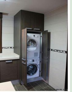 Armario mueble para lavadora secadora productos top - Armario para lavadora ...