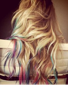 This reminds me of back in the day when we used to color the ends of our hair with markers..