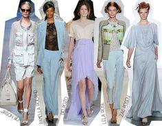 Semana de la Moda de Nueva York Primavera Verano 2014 Tendencias Azul pastel