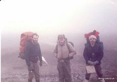 Brian and two friends on the Pennine way