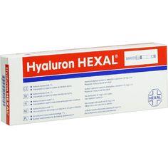 HYALURON HEXAL Fertigspritzen:   Packungsinhalt: 1 St Fertigspritzen PZN: 00772530 Hersteller: Hexal AG Preis: 26,16 EUR inkl. 19 % MwSt.…