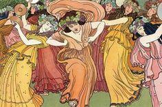 C'estl'une des sources d'inspiration de la costumièreGiovanna Buzzi.Le peintre suisse Ernest Biéler est l'auteur de l'album officiel de l'édition 1905 de la Fête des vignerons dont cette représentation des bacchantes. Ernest Biéler a également signé les costumes et les décors de celle de 1927. (Confrérie des Vignerons) Ernest, Officiel, Album, Costumes, Anime, Inspiration, Art, Biblical Inspiration, Art Background