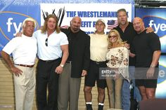 Ric Flair, Triple H, Bill Goldberg, Shawn Michaels, Trish Stratus, Kevin Nash and Stone Cold Steve Austin