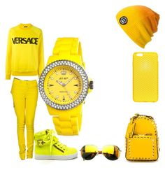 outfit #52 by jazzjohnson-1 on Polyvore featuring polyvore fashion style Versace MM6 Maison Margiela Valentino Jet Set Spacecraft AndMesh Givenchy women's clothing women's fashion women female woman misses juniors