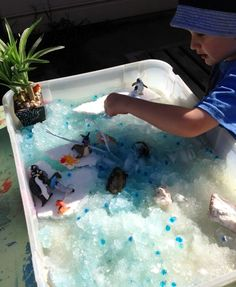 Adventures at home with Mum: The Benefits of Small world play - Penguins in Ice and Snow