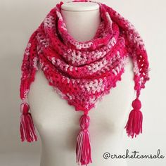 Crochet Shawl, Fashion, Long Scarf, Crochet Batwing Tops, Tapestry Crochet Patterns, Infinity Scarfs, Cravat, El Paso, Crocheting