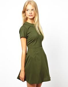 ASOS Skater Dress With Collar And Pintucks -Material: polyester -Price: EUR 45 -Ships from the UK (free)