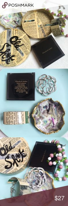 Old Sh*t Stash Kit Old Sh*t Stash Kit includes: Handmade Varnished Old Sh*t Stash Box. Handmade Decades Bracelet in Agatha Christie. Handmade from Vintage Beads Adjustable Necklace. Signed Vintage Brooch. Handmade Shatterproof Mermaid Trinket Dish. Elizabeth Arden Mirrored Compact Color Intrigue Eyeshadow Quad in Neutral Cashmeres* (case is still fully plastic sealed, but one shadow has been dented). Vintage Jewelry Brooches