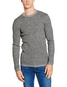 Shop New Look Men's Marl Long Sleeve Jumper, Black, Large. Mens Jumpers, New Look, Men Sweater, Long Sleeve, Sleeves, Sweaters, Shopping, Black, Fashion