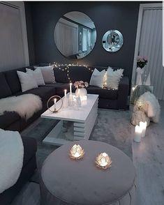 Home Interior, Home Living Room, Apartment Living, Interior Design Living Room, Living Room Designs, Cozy Apartment, Interior Ideas, Living Room Decor Cozy, Bedroom Decor