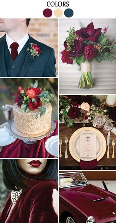 #Marsala: Pantone's 2015 Fall #Wedding Color Inspiration - Lucky in Love Wedding Planning Blog - Seattle Weddings at http://Banquetevent.com