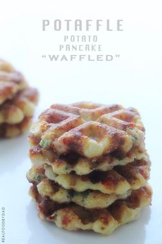 Not only do potatoes belong pressed between your waffle iron, so do other veggies! These potato-based waffles also other veggies tucked sneakily inside. Perfect for the picky eaters at your table.  Get the recipe from Real Food By Dad.   - Delish.com