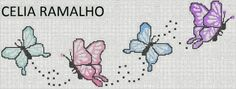 Gallery.ru / Фото #17 - ALEGRES BORBOLETAS - nnetthynunes Cross Stitch For Kids, Cross Stitch Heart, Cross Stitch Borders, Modern Cross Stitch Patterns, Cross Stitch Designs, Cross Stitching, Cross Stitch Embroidery, Butterfly Cross Stitch, Cross Stitch Flowers