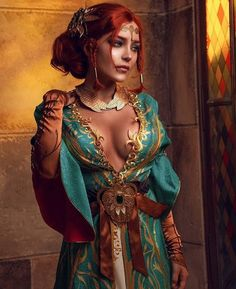 [Self] The Witcher 3 - Triss Merigold cosplay by KalinkaFox Triss Merigold Cosplay, Yennefer Cosplay, Fantasy Girl, Fantasy Women, Dark Fantasy, Fantasy Princess, Witcher Triss, Witcher Art, The Witcher