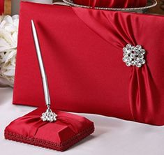 This hand-made red wedding guest book is covered in exquisite matte bridal satin in your choice of red, white, ivory, black. This accessory is the perfect Christmas guest book for a winter wedding. Wedding Notes, Red Wedding, Wedding Ideas, Wedding Colors, Wedding Cake, Wedding Stuff, Wedding Planning, Ivory Wedding Receptions, Bridal Flip Flops