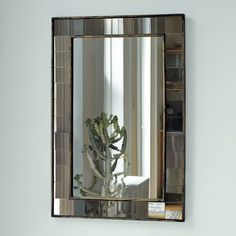 Antique Tiled Wall Mirror | west elm. Glass tiles around mirror