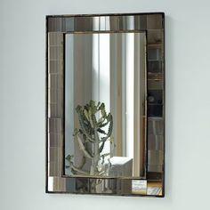 Antique Tiled Wall Mirror | west elm. Glass tiles around mirror