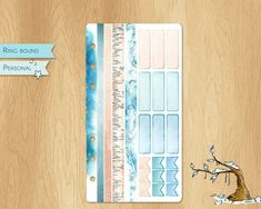 JANUARY 2019 - Watercolor Stickers For Winter Times, Perfectly Fitting Personal Sized Planners : 9 Hemiboxes and Flags, 4 Washis Watercolor Stickers, Ring Binder, Winter Time, Flags, Planners, January, Times, Unique Jewelry, Handmade Gifts