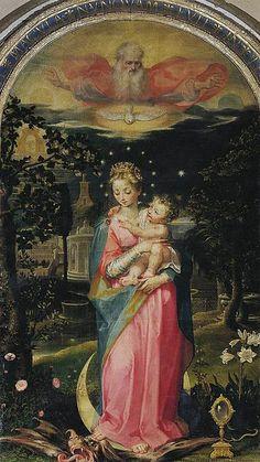 Francesco Vanni (Siena, 1563 – Siena, 26 ottobre 1610) - Immacolata Concezione con Gesù e Dio Padre - 1588 - Pinacoteca Nazionale, Siena