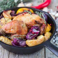 Whole Chicken w/Potatoes & Onions.