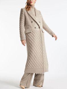 Max Mara ALDA beige: Alpaca and wool coat.