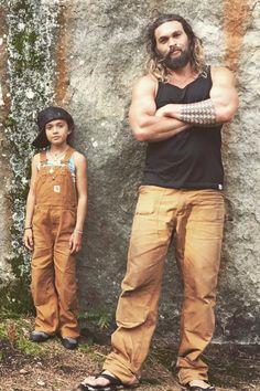 Jason Momoa's cutest and rarest family photos.