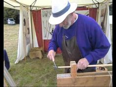 Longbow making and Arrow making demonstration at TREEFEST