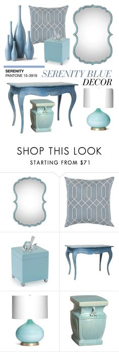 """Pantone 2016 Color of the Year: Serenity Blue"" by kathykuohome ❤ liked on Polyvore featuring interior, interiors, interior design, home, home decor, interior decorating, Blue, Home, homedecor and homeset"