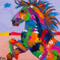 """Contemporary Painting - """"Flyin Hooves II"""" (Original Art from Tracy Miller)"""