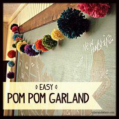 Easy Pom Pom Garland tutorial