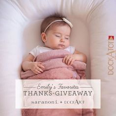 """+ GIVEAWAY!!! + We are so excited to feature @saranoniblanket and their super soft blankets. When we say they are soft, we mean it 150%. Every member of the family fights over these.  See what Founder Emily Peterson has to say about @dockatot """"I had seen a lot of people using the Dock-A-Tot but I didn't think I would need it for Grace because she was older. But not too long ago, Grace's sleep habits started changing when she started moving more and more. Can anyone relate? Naps were VERY…"""