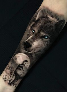 50 Of The Most Beautiful Wolf Tattoo Designs The Internet Has Ever Seen - cool . - 50 Of The Most Beautiful Wolf Tattoo Designs The Internet Has Ever Seen – cool wolf tattoo ideas - Wolf Tattoos Men, Animal Tattoos For Men, Badass Tattoos, Tattoos For Guys, Tattoo Animal, Wolf Tattoo Forearm, Wolf Tattoo Sleeve, Sleeve Tattoos, Tattoo Wolf