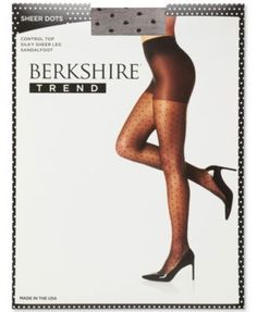 Berkshire Plus Size Dot Sheers 8012 - Black 2 Plus