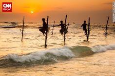 Stilt fishermen in Colombia