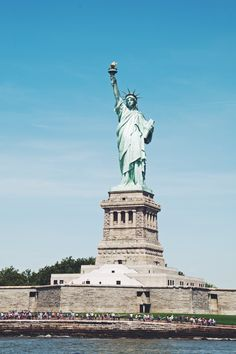 Iconic #NYC - The Statue of Liberty is a must-see landmark when travelling to New York City. It's a great sightseeing spot for your family vacation!