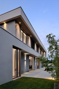 Dream House Interior, Dream Home Design, Modern House Design, Modern Architecture House, Architecture Design, Model House Plan, House Elevation, Villa Design, Architect House