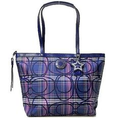 Coach Heritage Star Print Tote Bag (Silver/Multi-Color) by Coach. $195.99